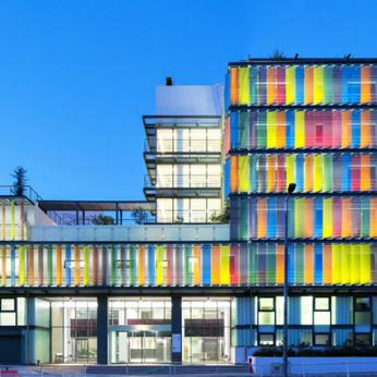 Building Envelope - Motorized Colored Glass Shades