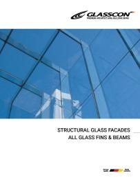 STRUCTURAL GLASS FACADES -  ALL GLASS FINS & BEAMS SYSTEMS